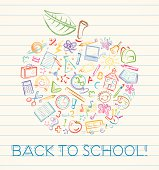 istock Colorful Back to School Apple 482255089