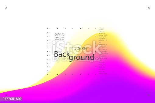 Colorful background. Abstract fluid dynamic shapes. Liquid colors on white background. Modern template for poster or banner