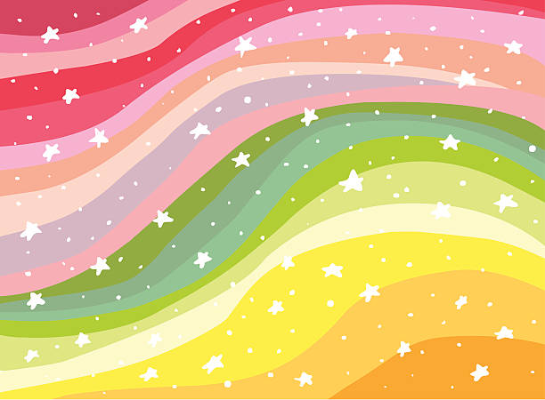 Colorful Background Rainbow illustration  book patterns stock illustrations