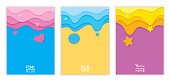 Illustration vector eps 10 of colorful background design with pink, blue, purple colors for set cover or template.
