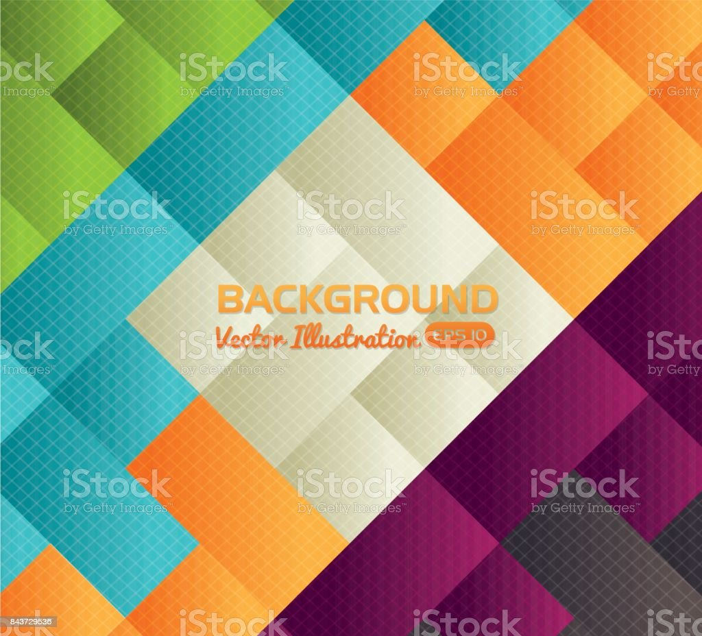 Colorful Background Wallpaper Theme Stock Illustration