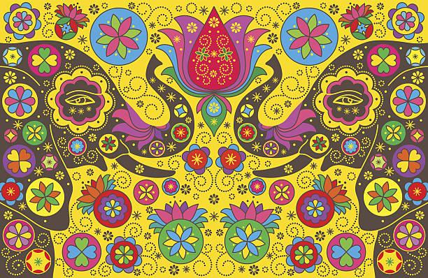 colorful background with elephants. vector illustration. - ganesh stock-grafiken, -clipart, -cartoons und -symbole