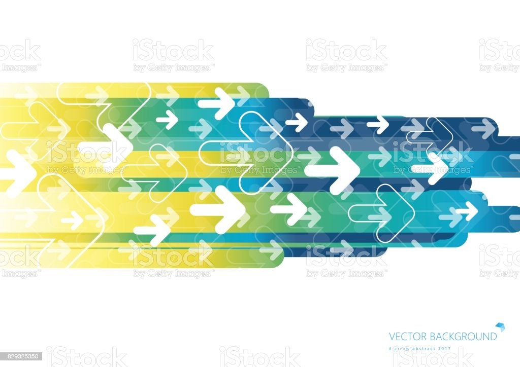 Colorful background with fading white direction arrow pattern