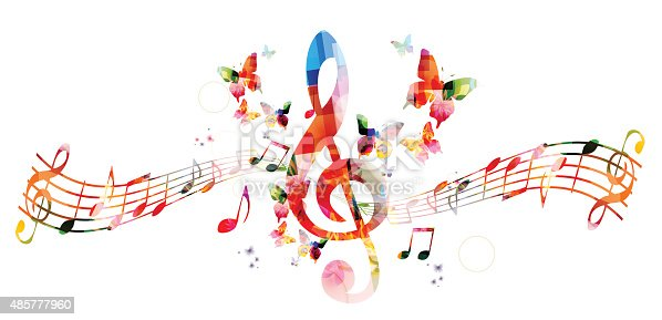 Colorful Music Notes In A Lin Hd Wallpaper Background Images: カラフルな背景音楽をメモ - 2015年のベクターアート素材や画像を多数ご用意