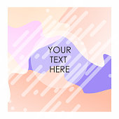 Colorful background with typography vector