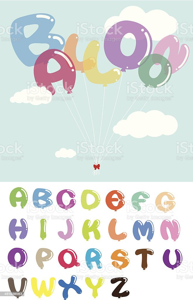 Colorful Balloon Alphabet Design royalty-free colorful balloon alphabet design stock vector art & more images of abc - broadcasting company