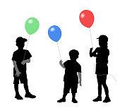 Colorful Balloon Children