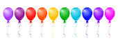 Vector colorful balloons on white background