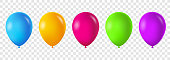 Colorful balloons set. Vector illustration