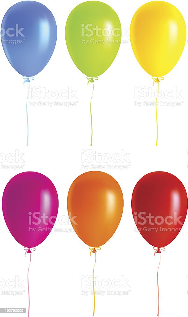 Colorful balloons vector art illustration