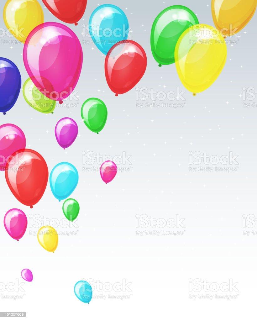 Colorful balloons vector art illustration