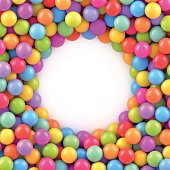 Colorful balls background with place for your content