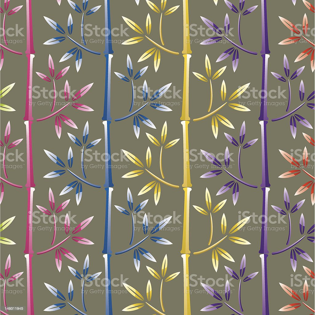 colorful bamboo background vector art illustration