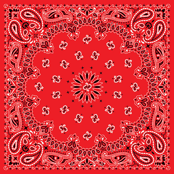 Colorful Bandana. 3 colors bandana. You can easily change the background color in the vector file. headscarf stock illustrations