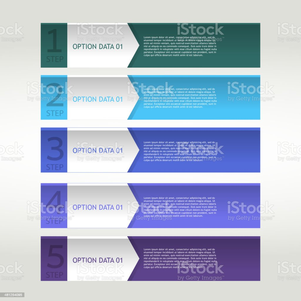 Colorful banner ribbon. Element  for infographic vector art illustration