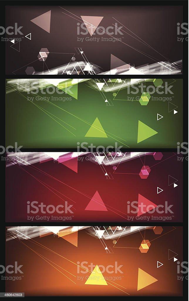 Colorful Banner vector art illustration