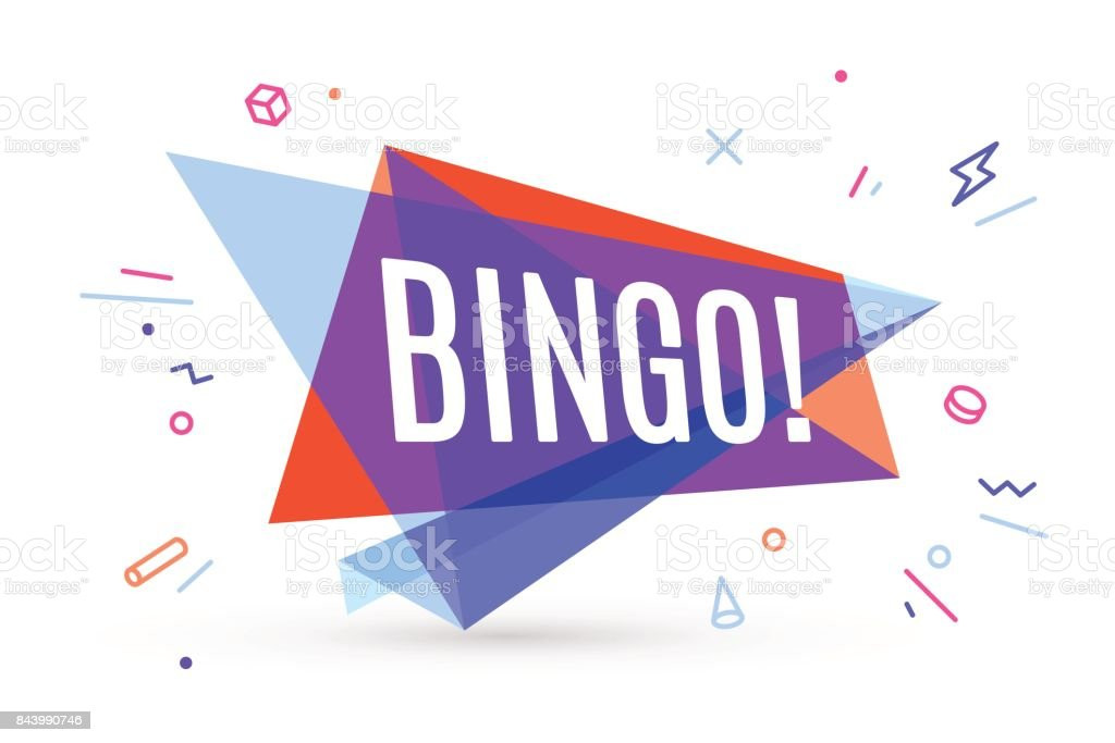 Bannière colorée avec texte Bingo - Illustration vectorielle