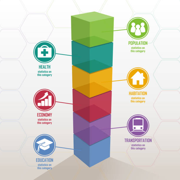 3d colorful bar chart - 健康のインフォグラフィック点のイラスト素材/クリップアート素材/マンガ素材/アイコン素材