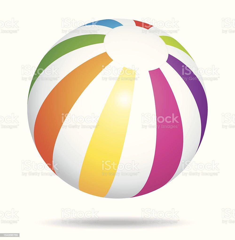 Colorful beach ball royalty-free stock vector art