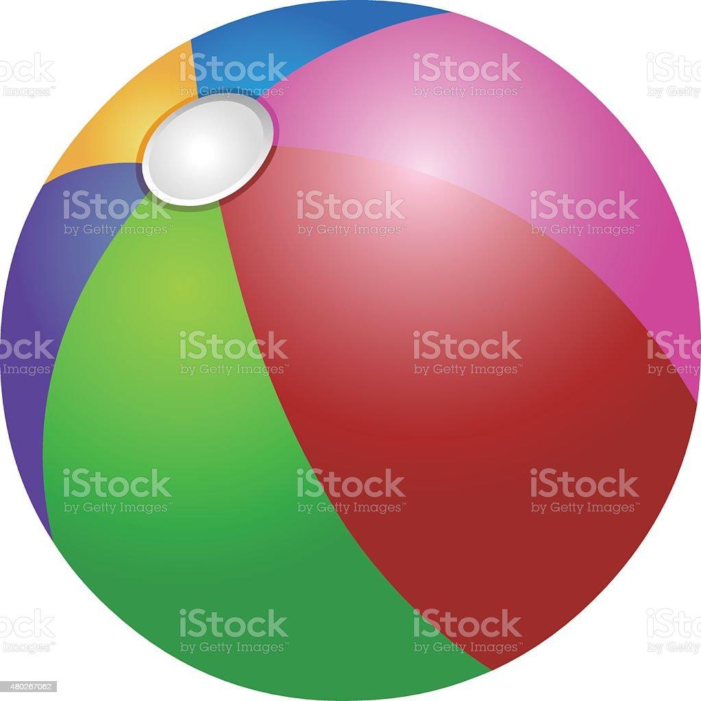 Colorful beach ball vector art illustration