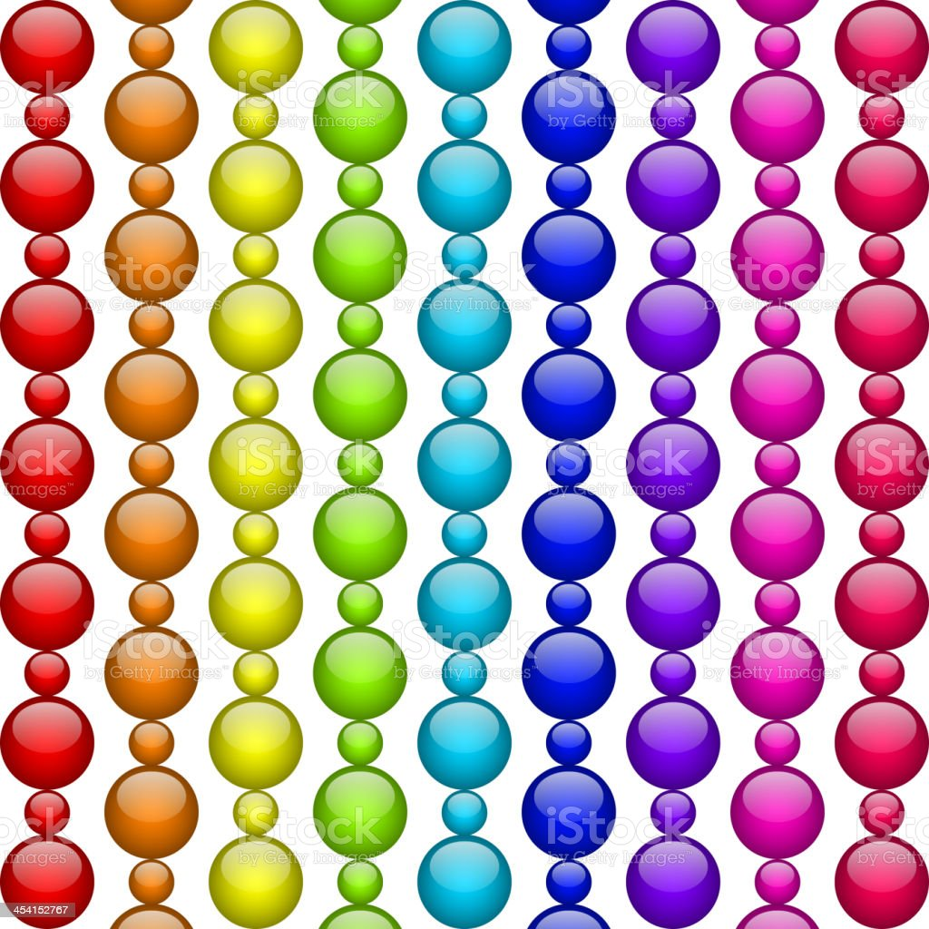 colorful beads royalty-free stock vector art