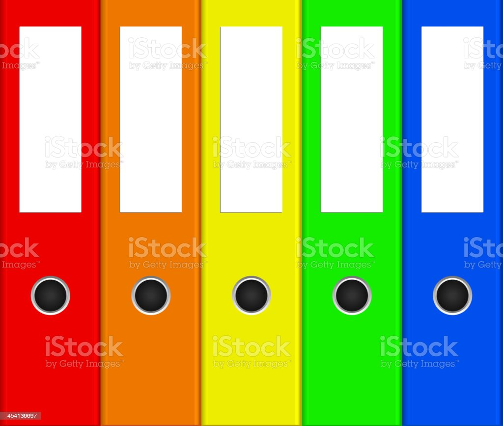 colorful binders vector art illustration