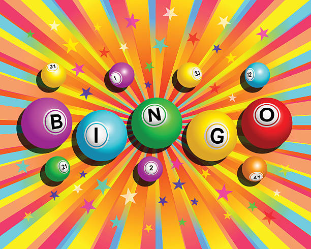 Colorful Bingo Background - ilustração de arte em vetor