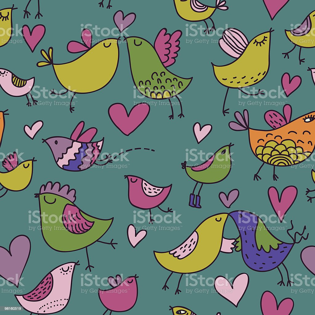 Colorful birds in love royalty-free colorful birds in love stock vector art & more images of backgrounds