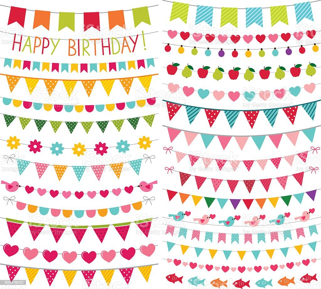 Colorful Birthday And Party Vector Decoration Stock Vector