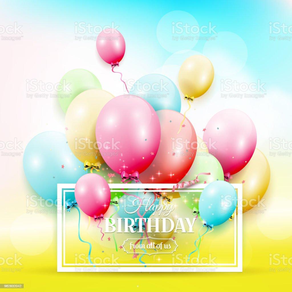 Colorful birthday balloons - arte vettoriale royalty-free di Anniversario