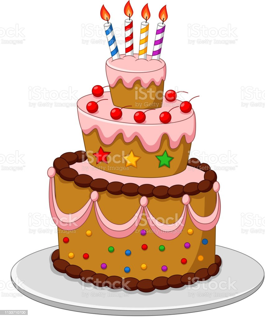 Brilliant Colorful Birthday Cake With Candles Isolated On White Background Funny Birthday Cards Online Aeocydamsfinfo