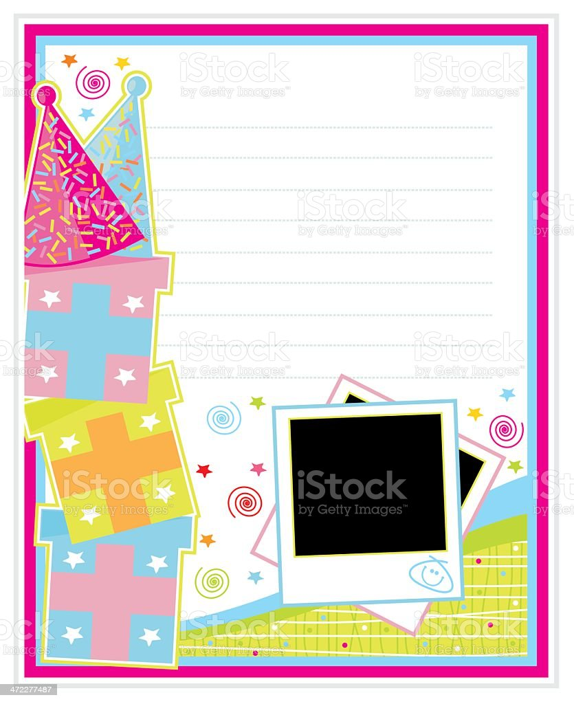 Colorful Birthday Page royalty-free stock vector art
