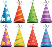 Time to celebrate with this large assortment of party hats!