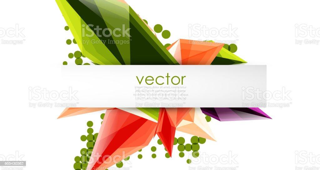 Colorful blooming crystals vector abstract background - Grafika wektorowa royalty-free (Abstrakcja)