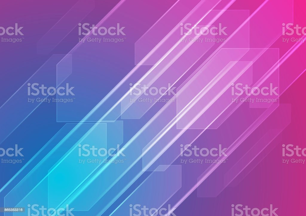 Colorful blue and purple abstract tech background vector art illustration