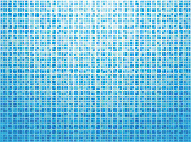 Colorful blue checkered background Colorful blue checkered background bathroom backgrounds stock illustrations