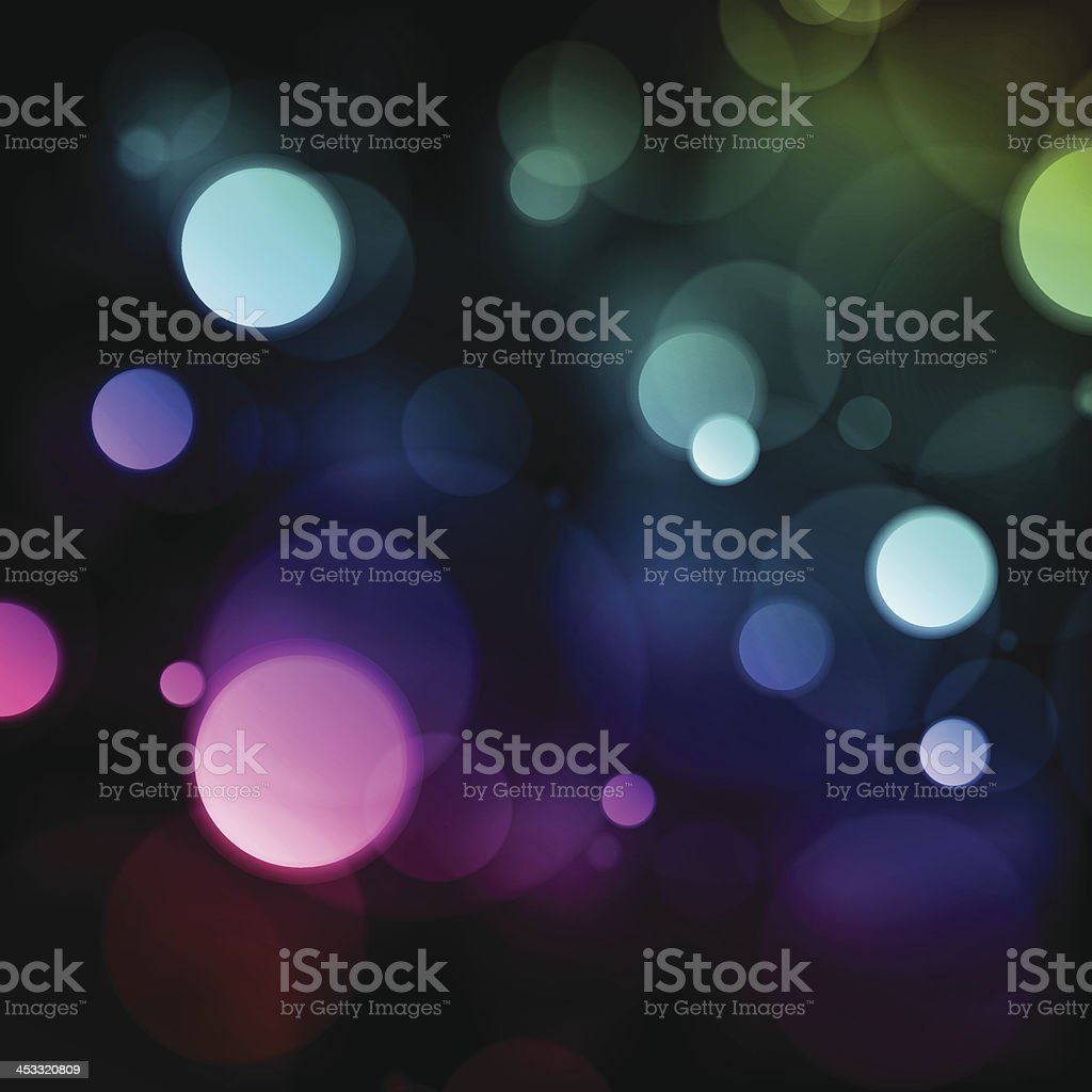 Colorful Bokeh Blurry Lights Vector Background royalty-free stock vector art