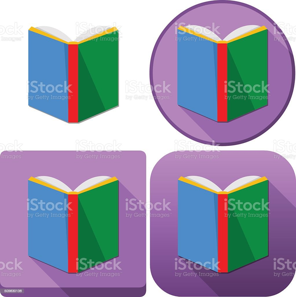 Colorful Book Icon Pack vector art illustration
