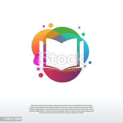 istock Colorful Book logo vector, Education logo designs template, design concept, logo, logotype element for template 1266917688