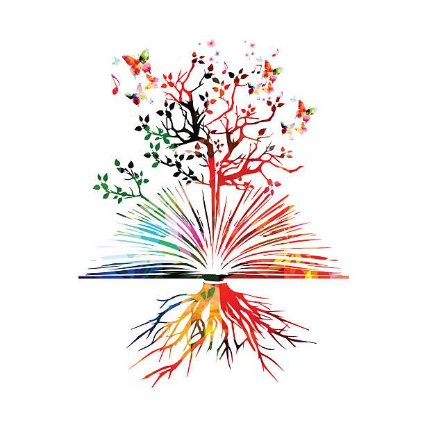Reserve con coloridas mariposas - ilustración de arte vectorial