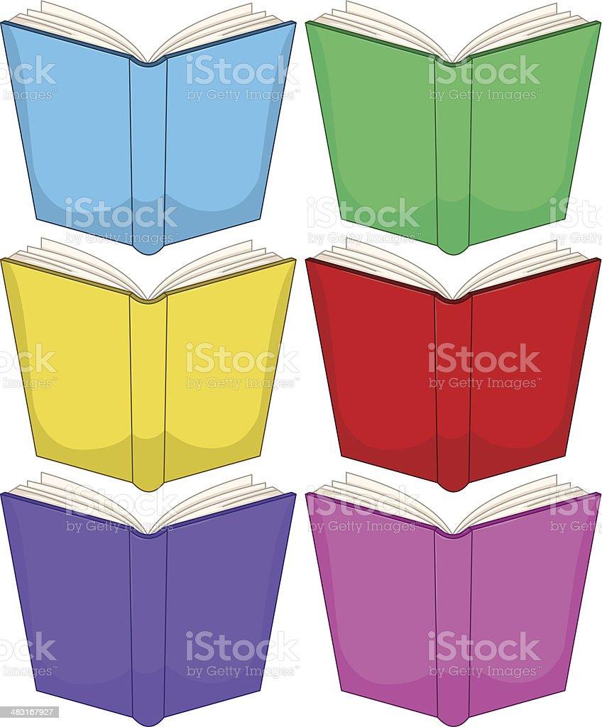 Colorful Books Pack vector art illustration
