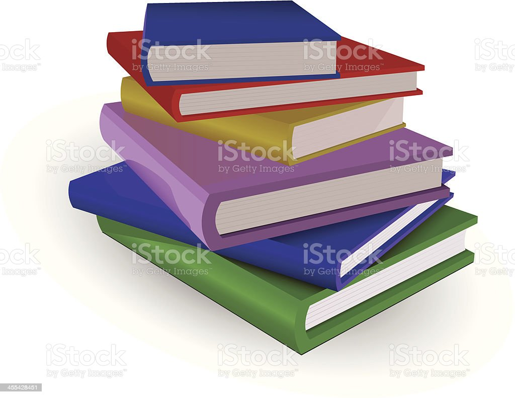 colorful books royalty-free stock vector art