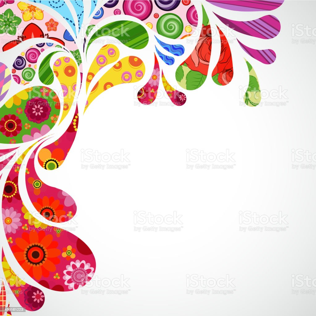 Colorful Border Abstract Illustration Over White Background