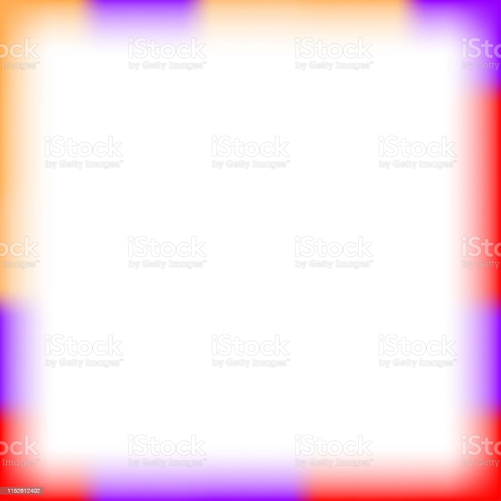 Colorful Border Square Blur And Smooth White For Background Banner And Blank Copy Space Banner Frame Watercolor Art Style And Square Empty Multicolor Frame Cover Or Templates Banner Background Stock Illustration