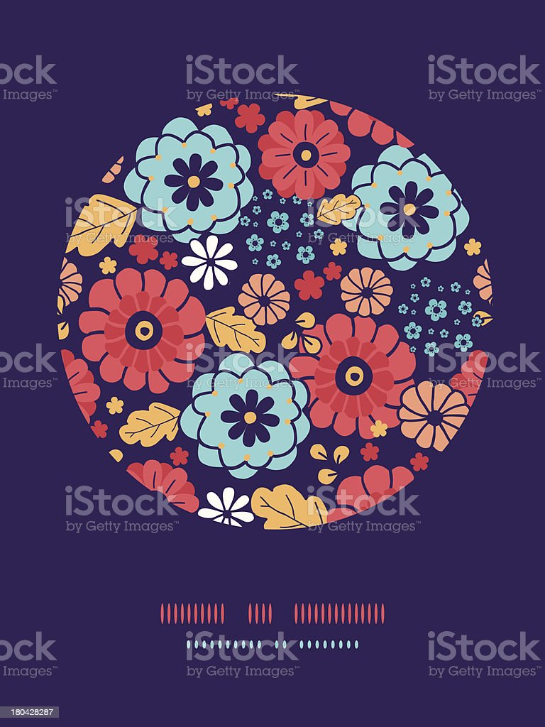 Colorful bouquet flowers circle decor pattern background royalty-free colorful bouquet flowers circle decor pattern background stock vector art & more images of abstract