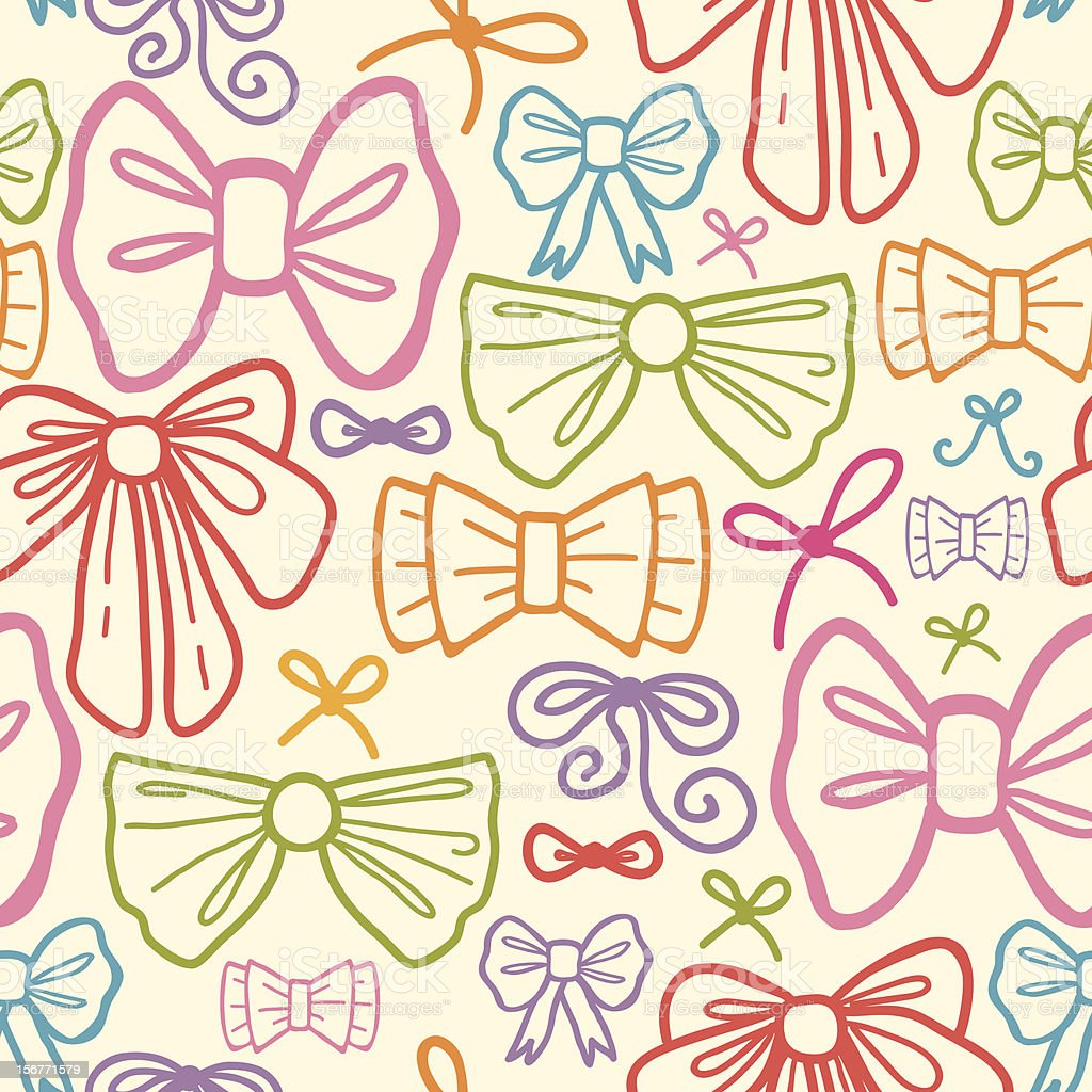 Colorful Bows Seamless Pattern royalty-free stock vector art