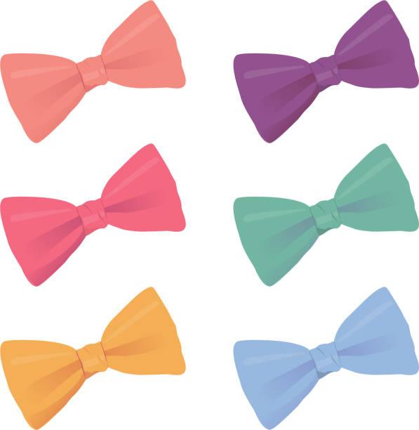 다채로운 bowties - 머리 리본 stock illustrations