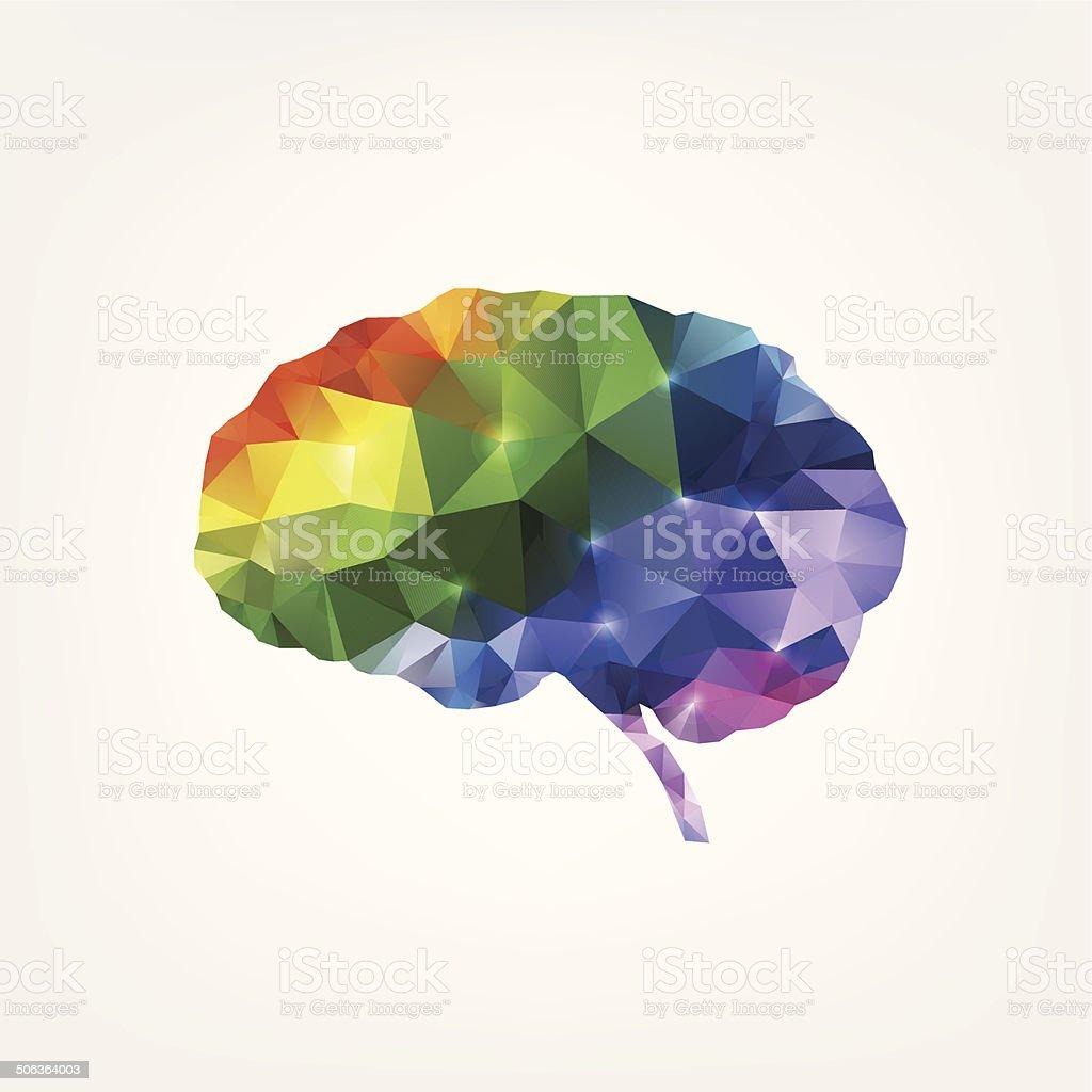 Colorful brain design vector art illustration