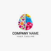 istock Colorful Braind Logo 1086922346