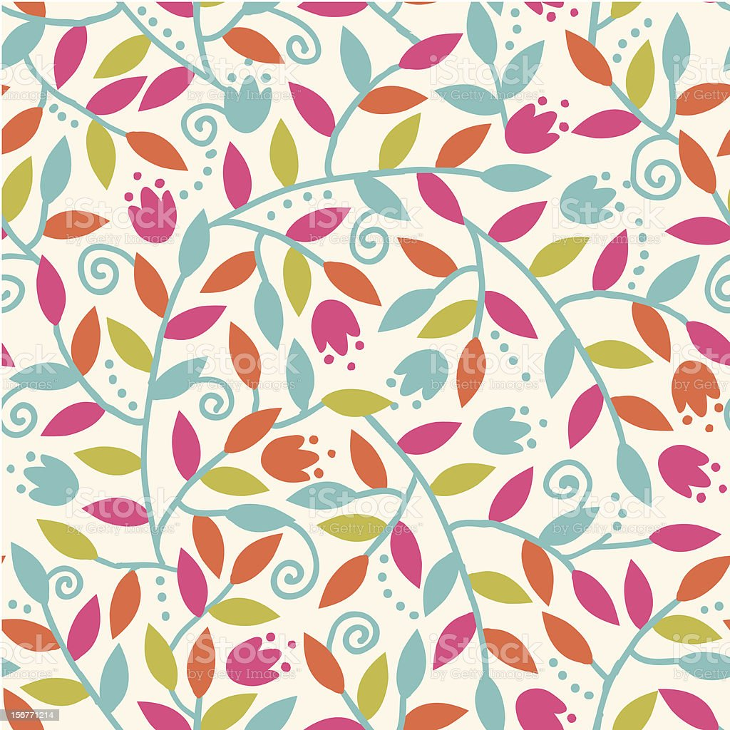 Colorful branches seamless pattern royalty-free stock vector art